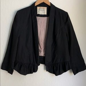 Black Lined Blazer from Anthropology